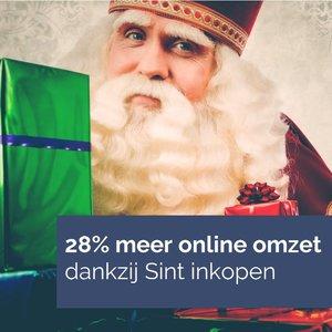 Sint geeft bijna 341 miljoen euro online uit