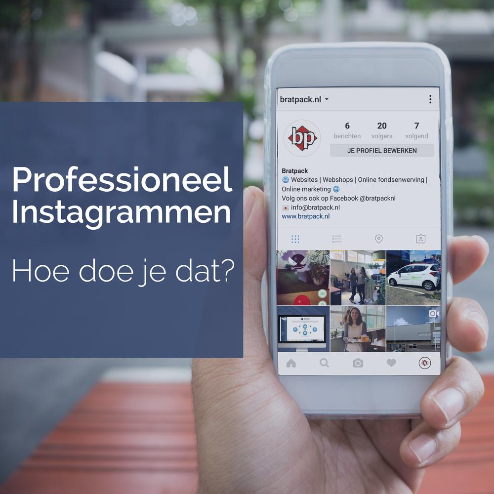 Instagrammen als een pro