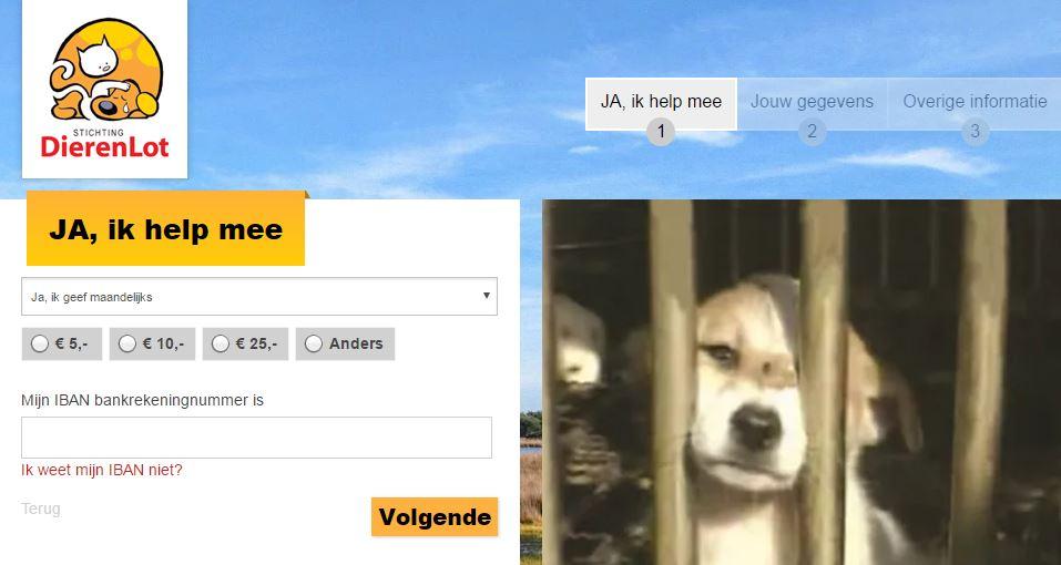 online donatiemodule Stichting Dierenlot