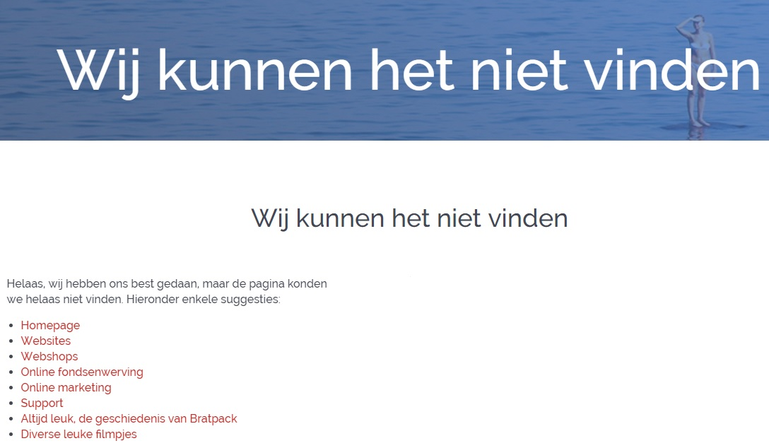 404 pagina Bratpack