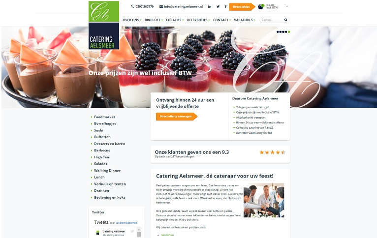 Catering Aelsmeer website bratpack
