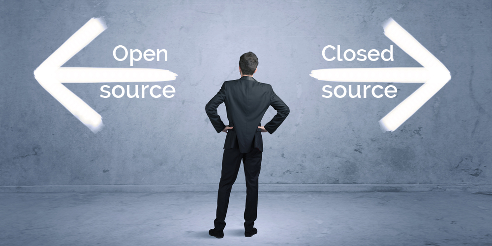 Open source vs closed source CMS