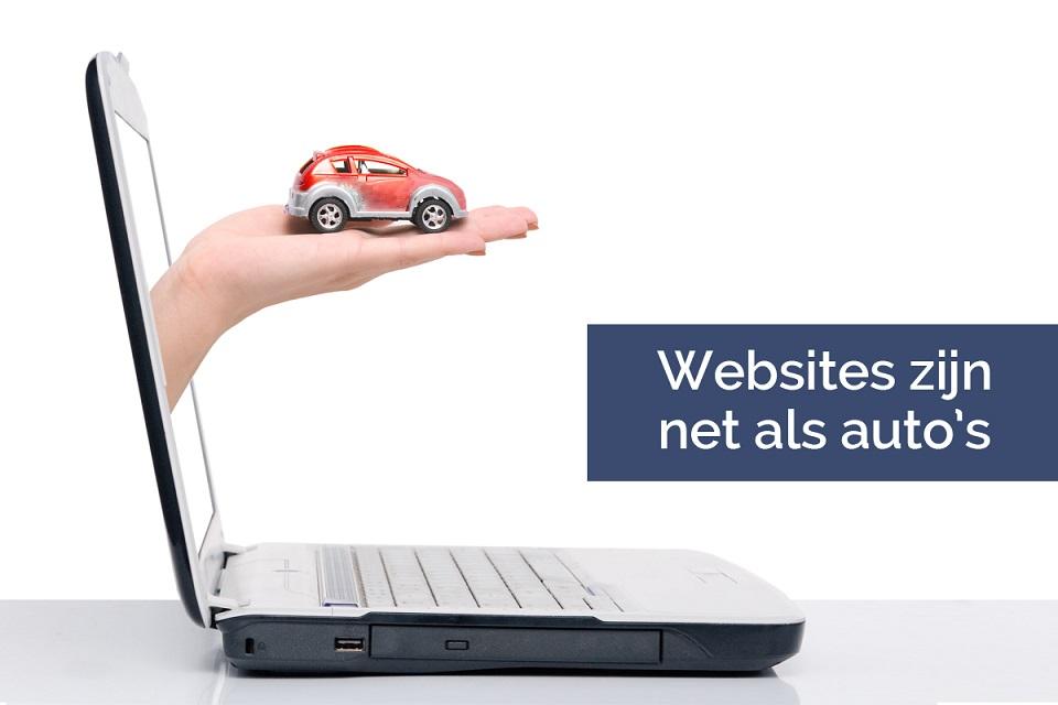 Website zijn net als auto's